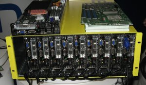 Blade chassis for S3000PT Server Board