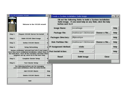 A Screenshot from the OSCAR Install System