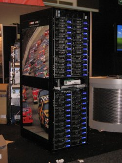 Front view of Rackable Scale Out Rack