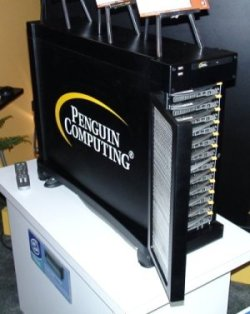 Side View of the Penguin Computing Personal Cluster